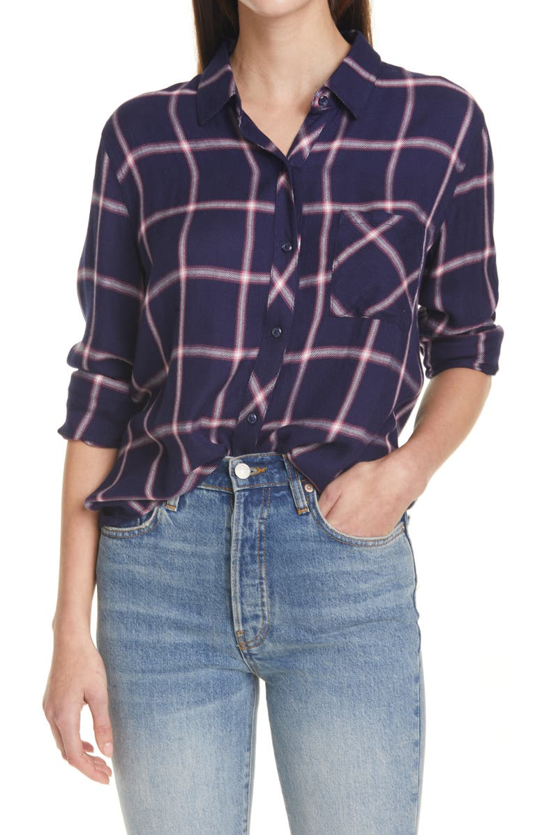 RAILS Hunter Plaid Shirt, Main, color, SAPPHIRE