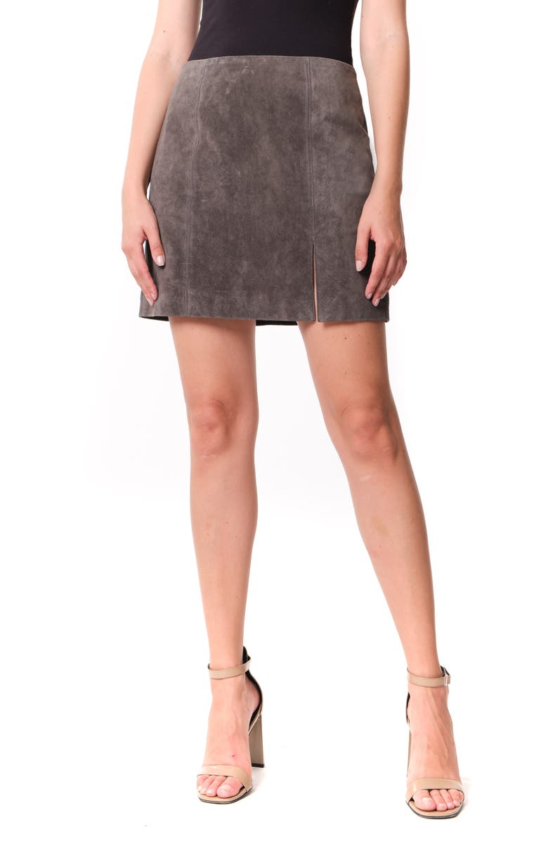 BLANKNYC Suede Miniskirt, Main, color, ROAD TRIP