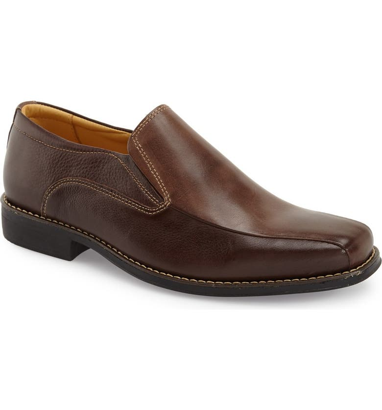 SANDRO MOSCOLONI 'Jacobs Venetian' Slip-On, Main, color, BROWN/ BROWN