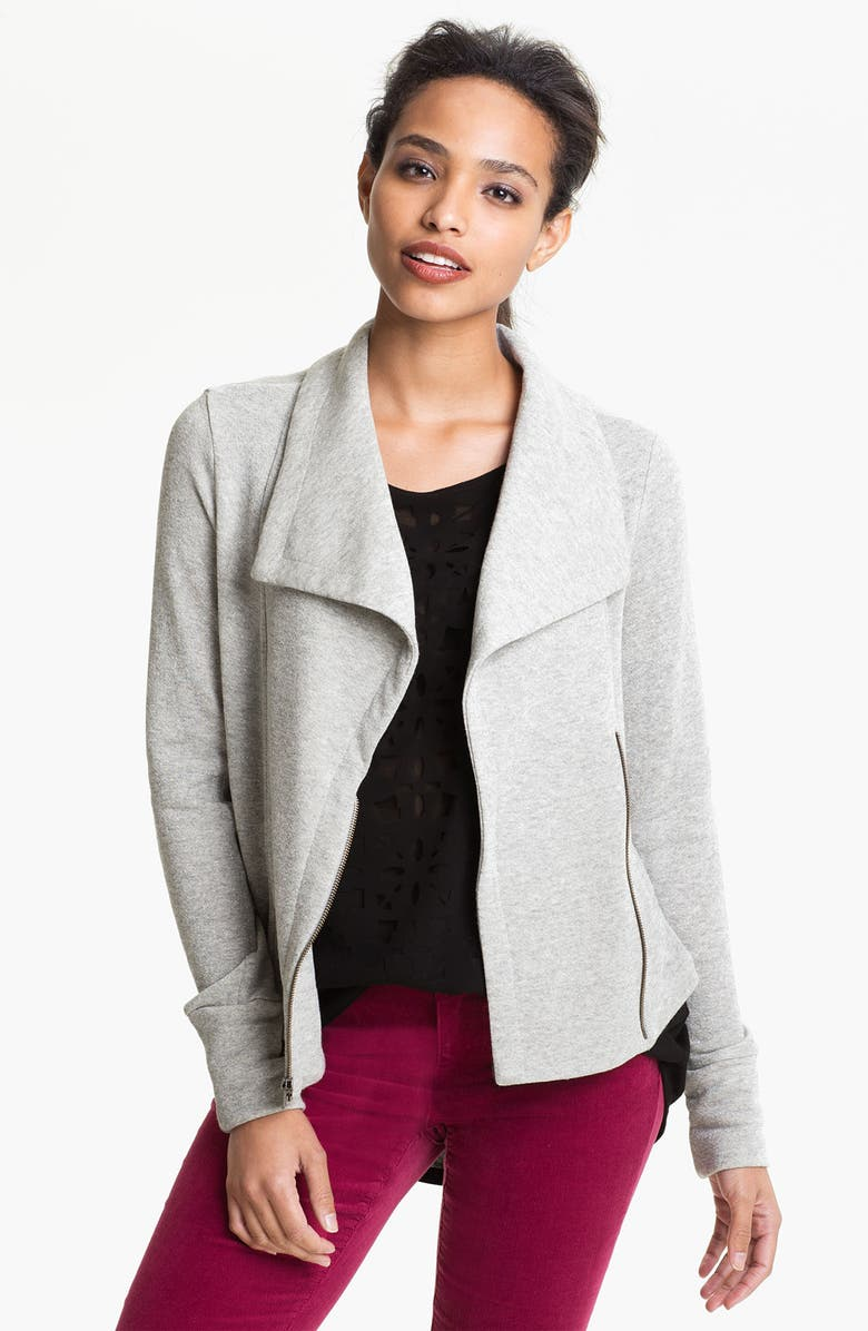 MAX & MIA Knit Moto Jacket, Main, color, 040