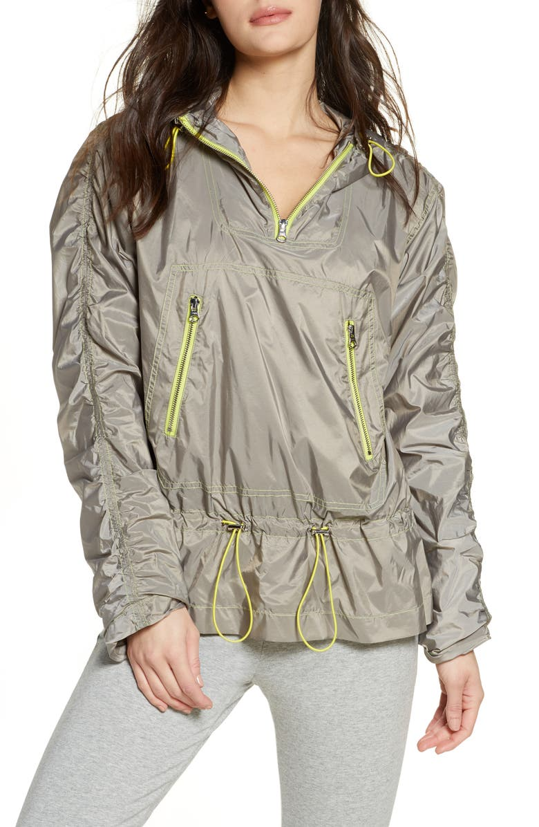 ZELLA Water Resistant Trapeze Anorak, Main, color, 030