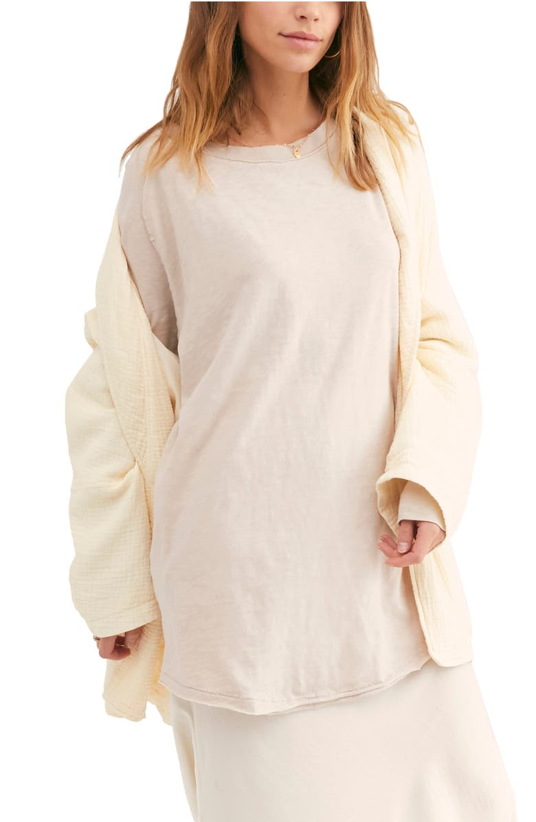 FREE PEOPLE Arden Extra Long Cotton Top, Main, color, BEIGE
