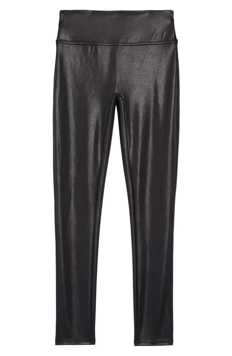 SPANX<SUP>®</SUP> Kids' Faux Leather Leggings, Main, color, 001