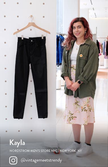 The Charlie High Waist Coated Ankle Skinny Jeans, sales video thumbnail
