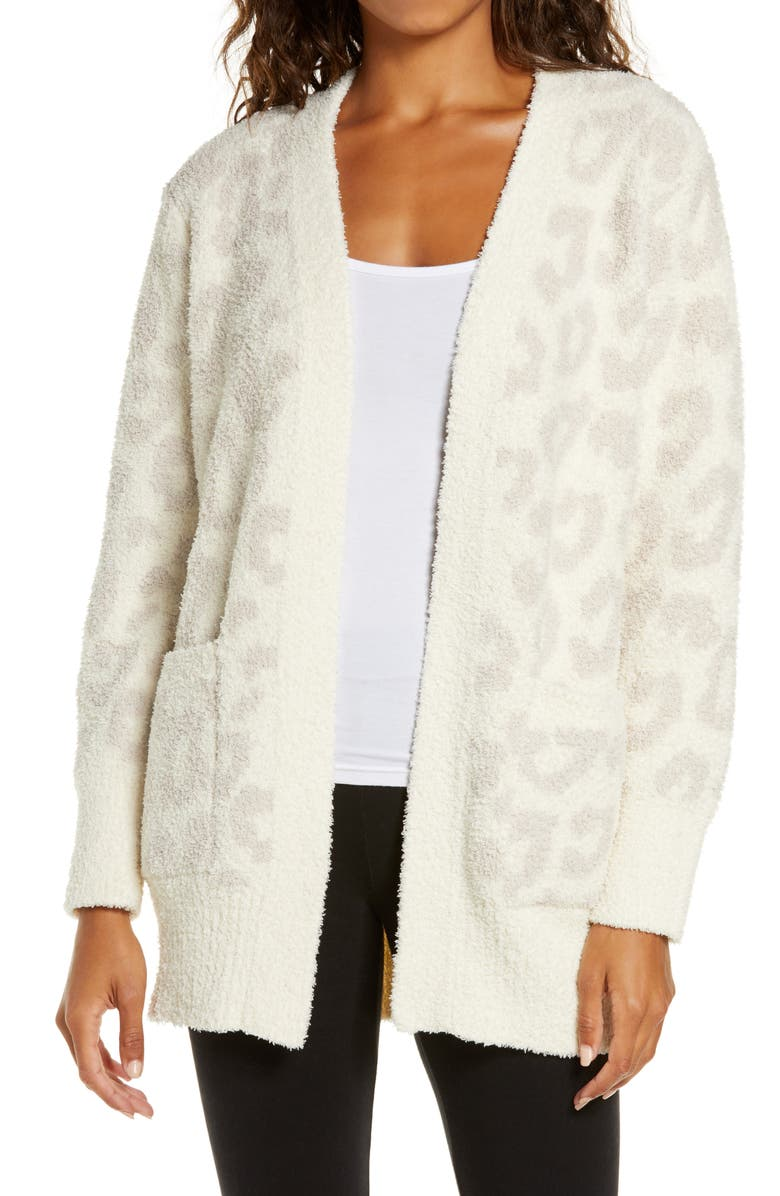 BAREFOOT DREAMS<SUP>®</SUP> CozyChic<sup>™</sup> Leopard Cardigan, Main, color, 250