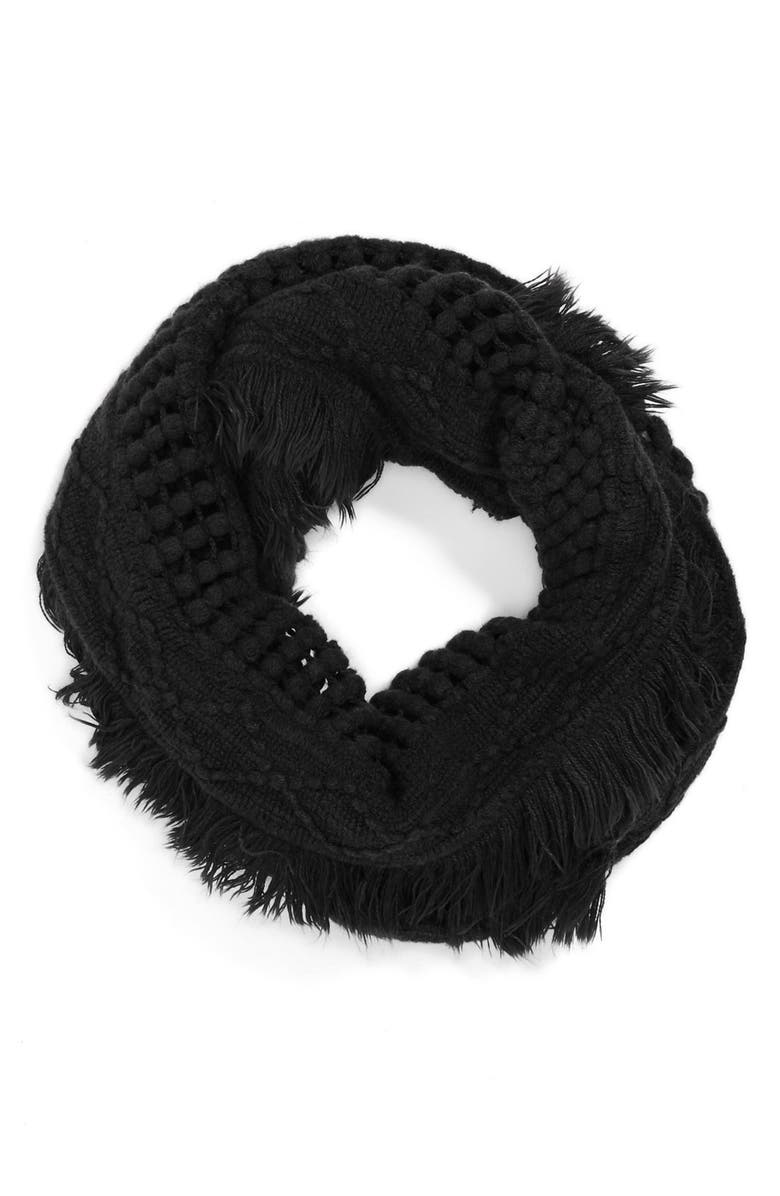 CAPELLI NEW YORK Capelli of New York Knit Infinity Scarf, Main, color, JET BLACK