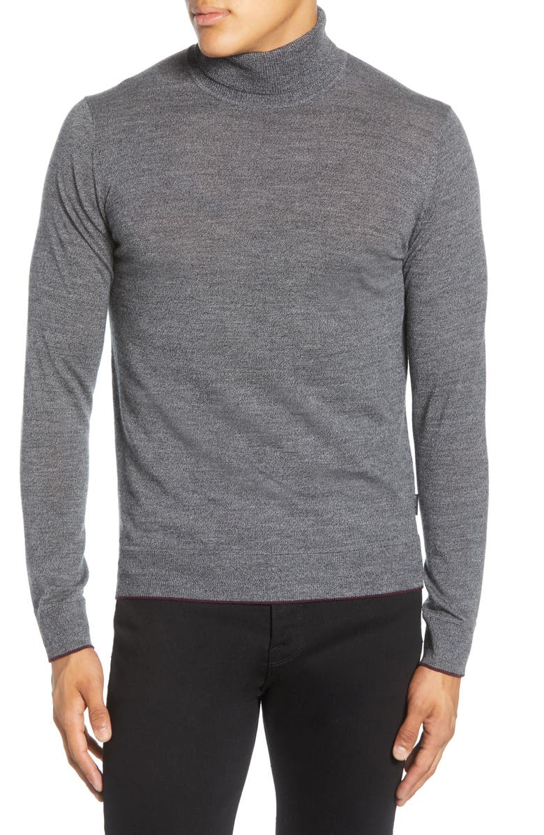 TED BAKER LONDON Wool Blend Turtleneck Sweater, Main, color, 031