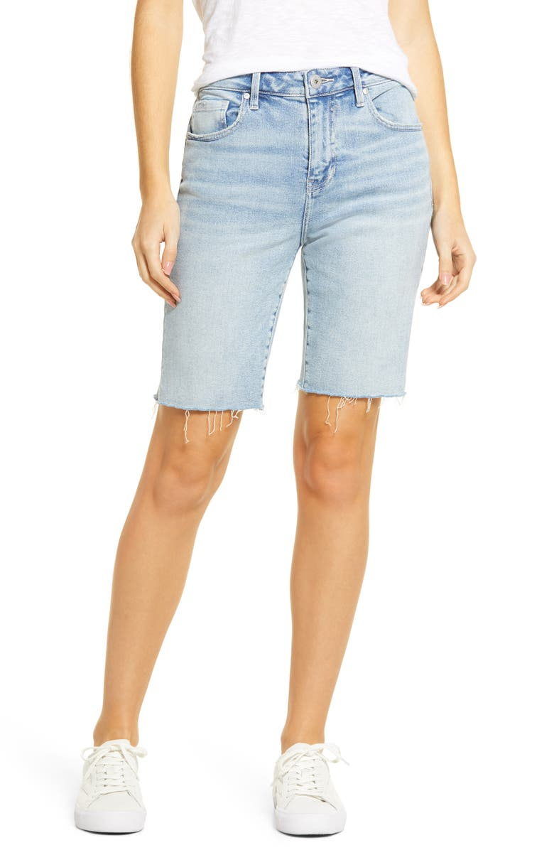 JAG JEANS The City Shorts Cutoff Denim Bermuda Shorts, Main, color, EAST HAMPTON