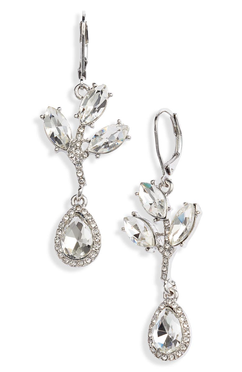 CRISTABELLE Crystal Abstract Drop Earrings, Main, color, 040