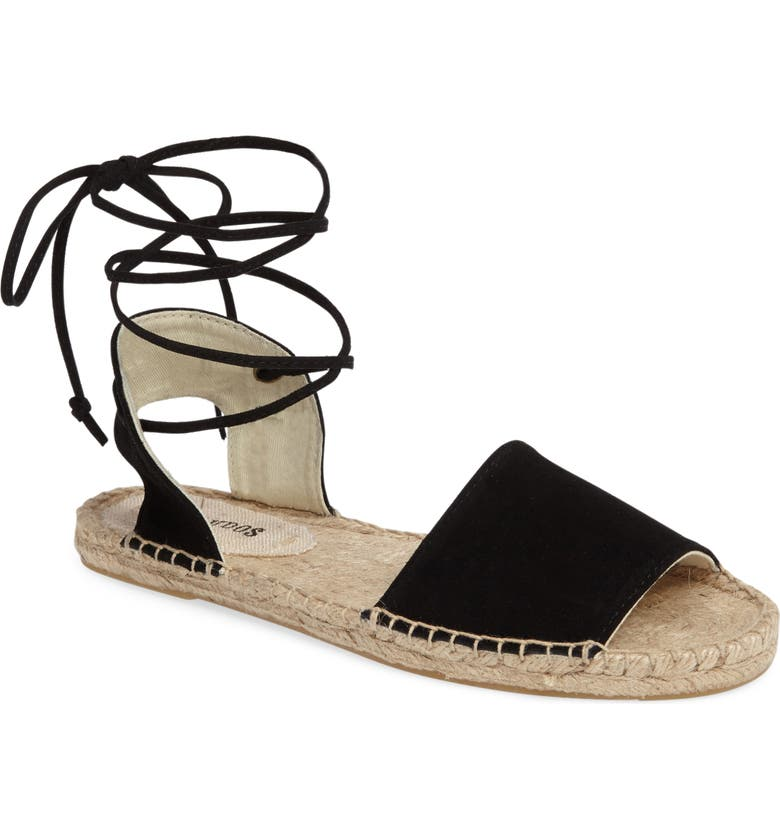 SOLUDOS Lace-Up Sandal, Main, color, 001