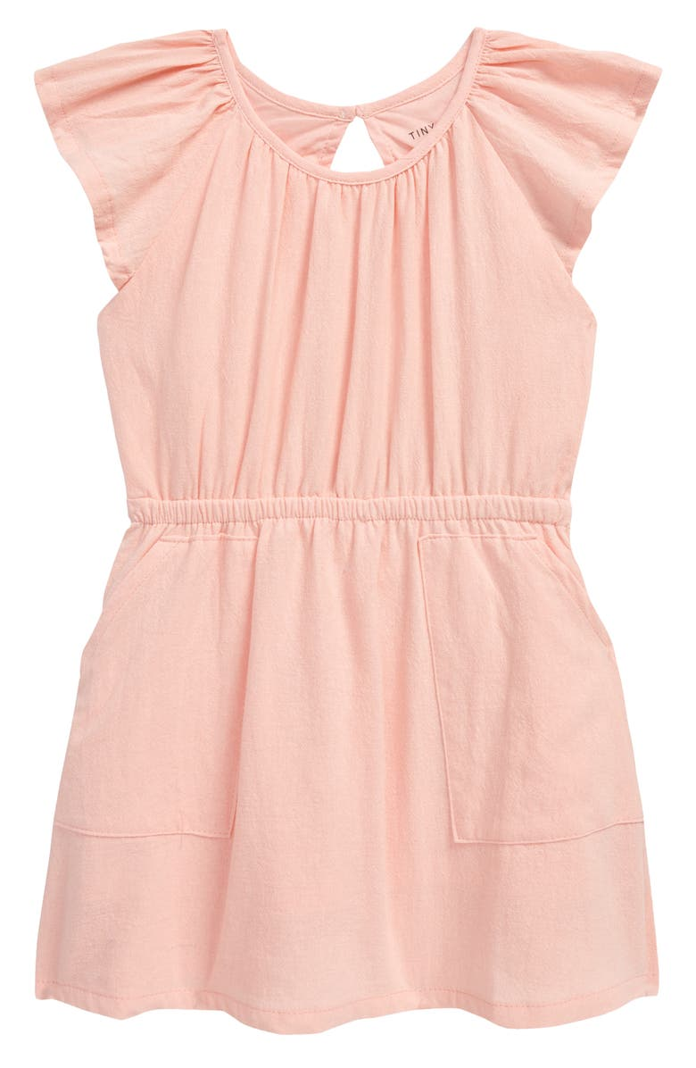 TINY TRIBE Kids' Sweet Pink Open Back Dress, Main, color, PINK