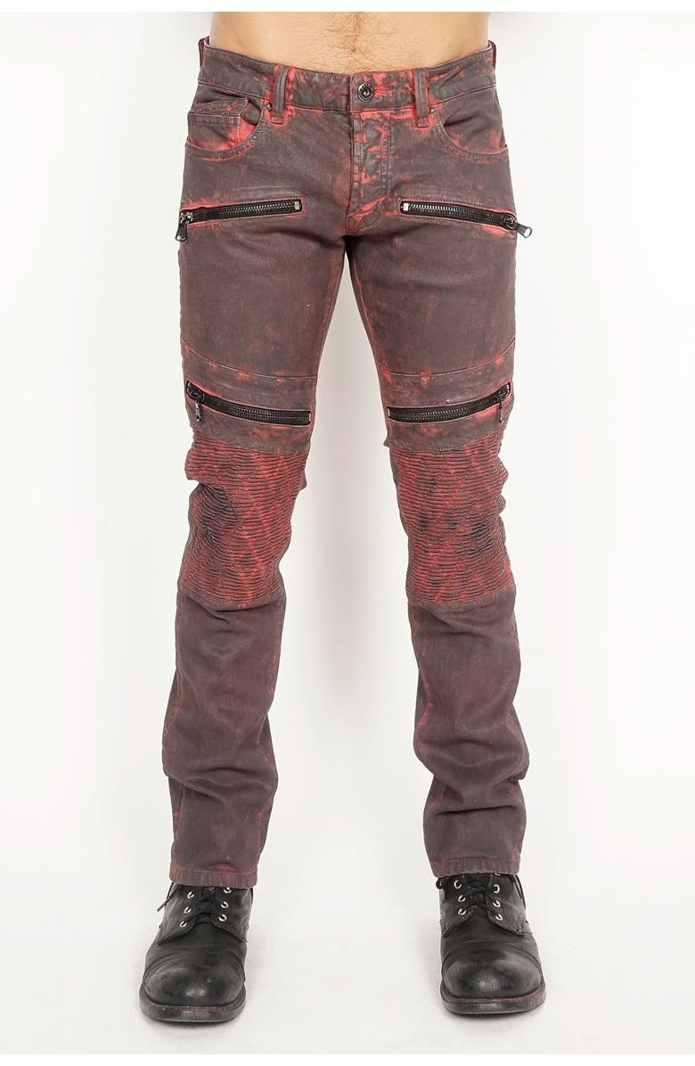 CULT OF INDIVIDUALITY Greaser Moto Jeans, Main, color, BICK