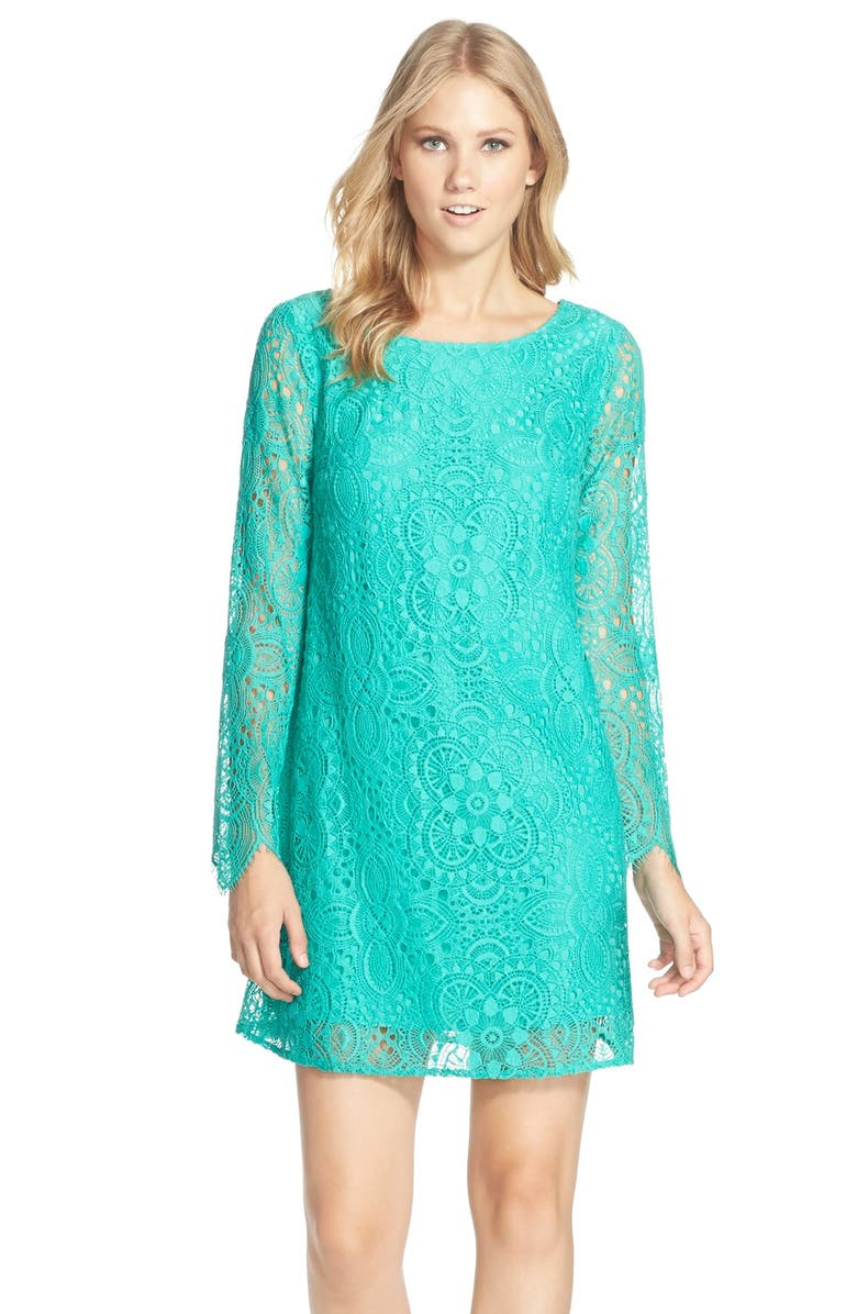 LILLY PULITZER<SUP>®</SUP> 'Colette' Lace Tunic Dress, Main, color, 343