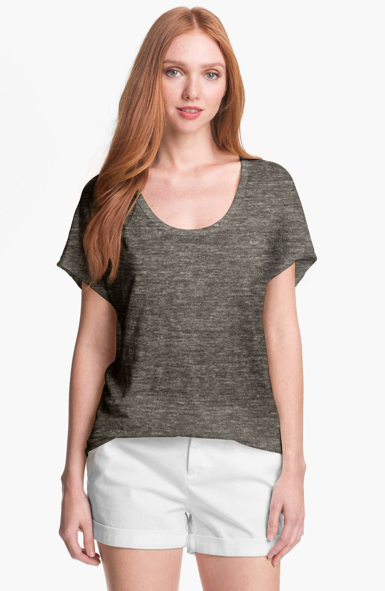 JOIE 'Maddie' Linen Tee, Main, color, 001