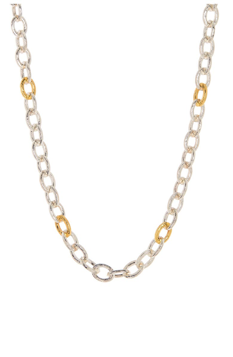 GURHAN 24K Gold Plated Sterling Silver Galahad All Around Chain Necklace, Main, color, SILVER