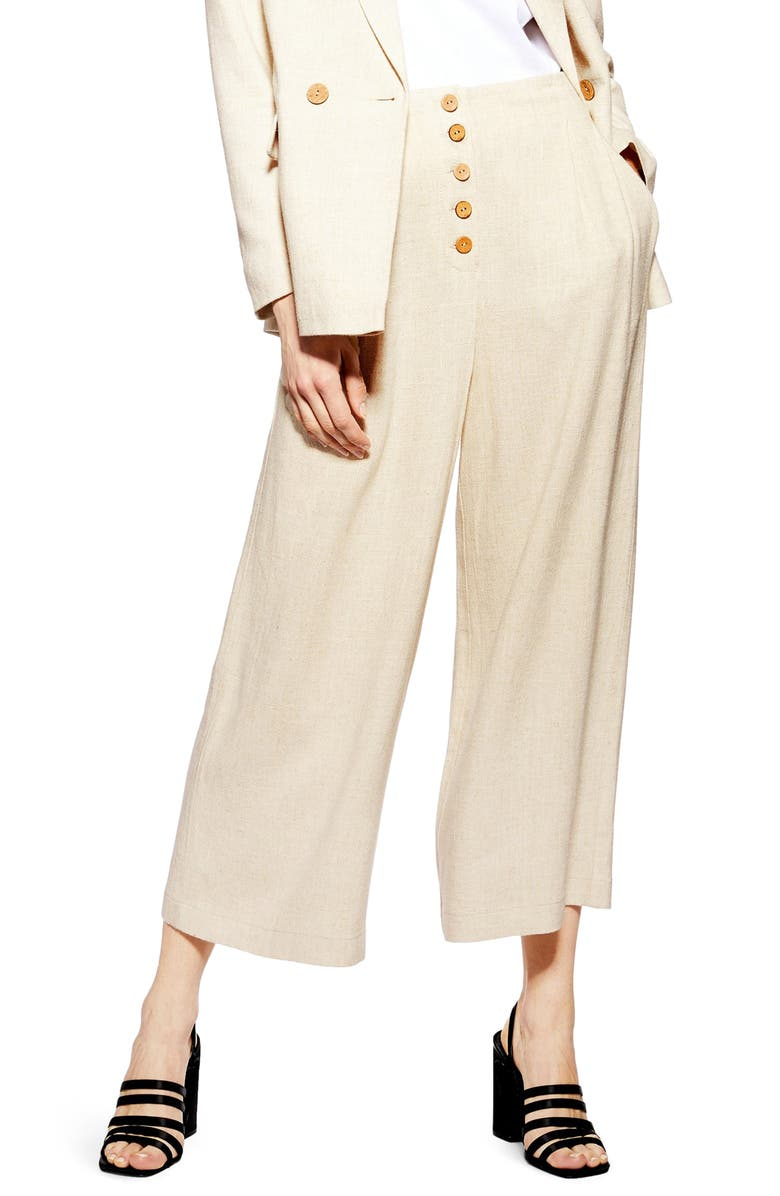 TOPSHOP Coco Cropped Wide Leg Trousers, Main, color, 251