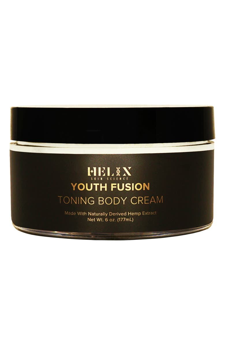 HELIX SKIN SCIENCE Youth Fusion Toning Body Cream with CBD, Main, color, 000