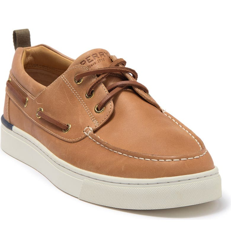 SPERRY Gold Cup Victura 3-Eyelet Leather Sneaker, Main, color, TAN
