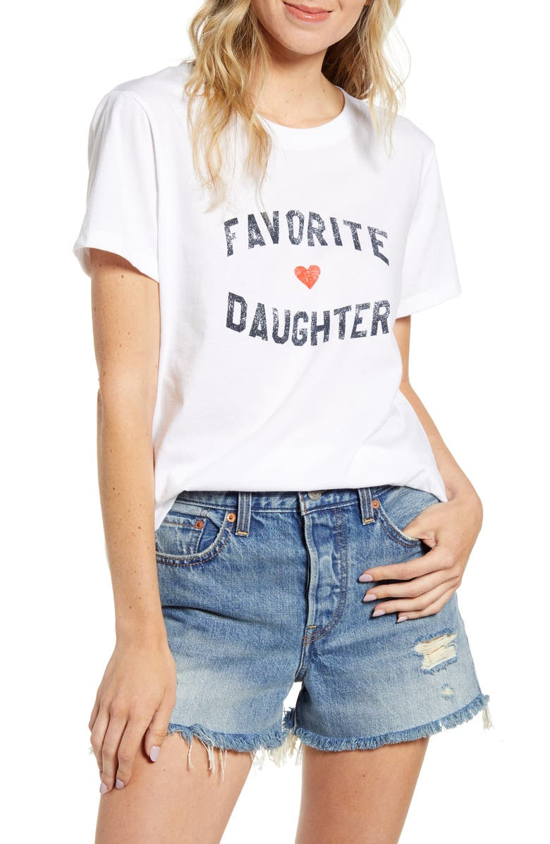 SUB_URBAN RIOT Favorite Daughter Graphic Tee, Main, color, 100