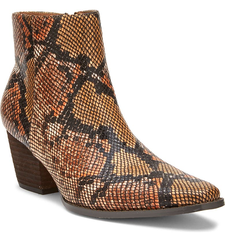 COCONUTS BY MATISSE Spade Bootie, Main, color, TAN SNAKE PRINT FAUX LEATHER