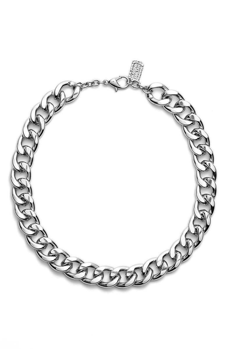 KARINE SULTAN Curb Chain Collar Necklace, Main, color, 040