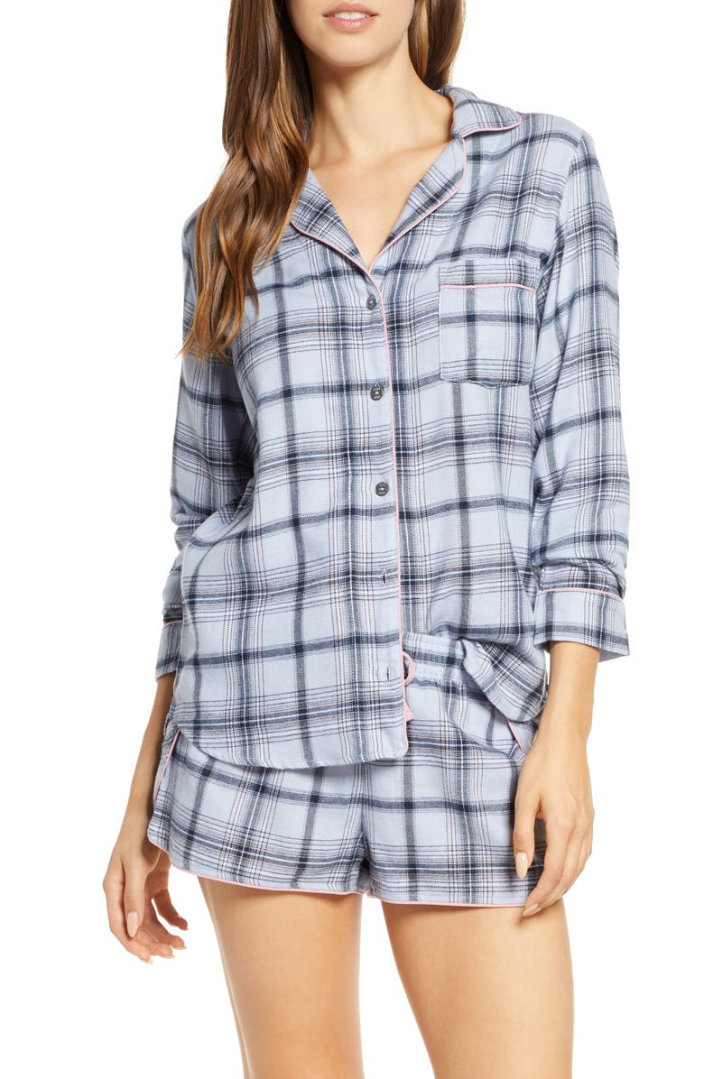 UGG<SUP>®</SUP> Milo Flannel Short Pajamas, Main, color, 400