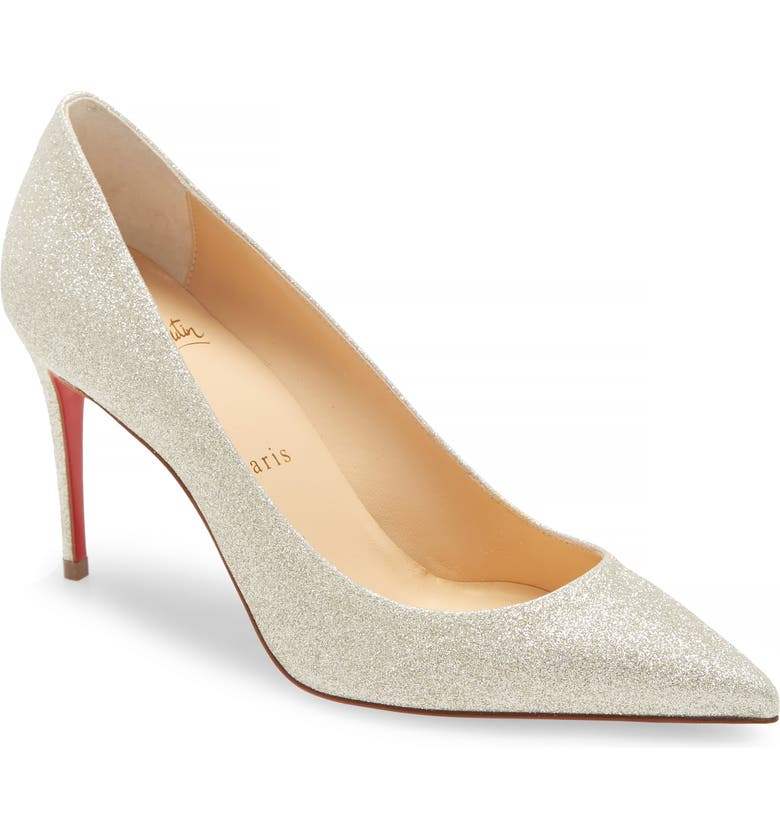 CHRISTIAN LOUBOUTIN Kate Glitter Pointed Toe Pump, Main, color, 101