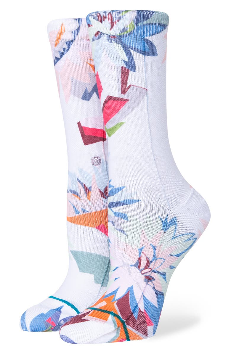 STANCE Consistent Crew Socks, Main, color, WHITE