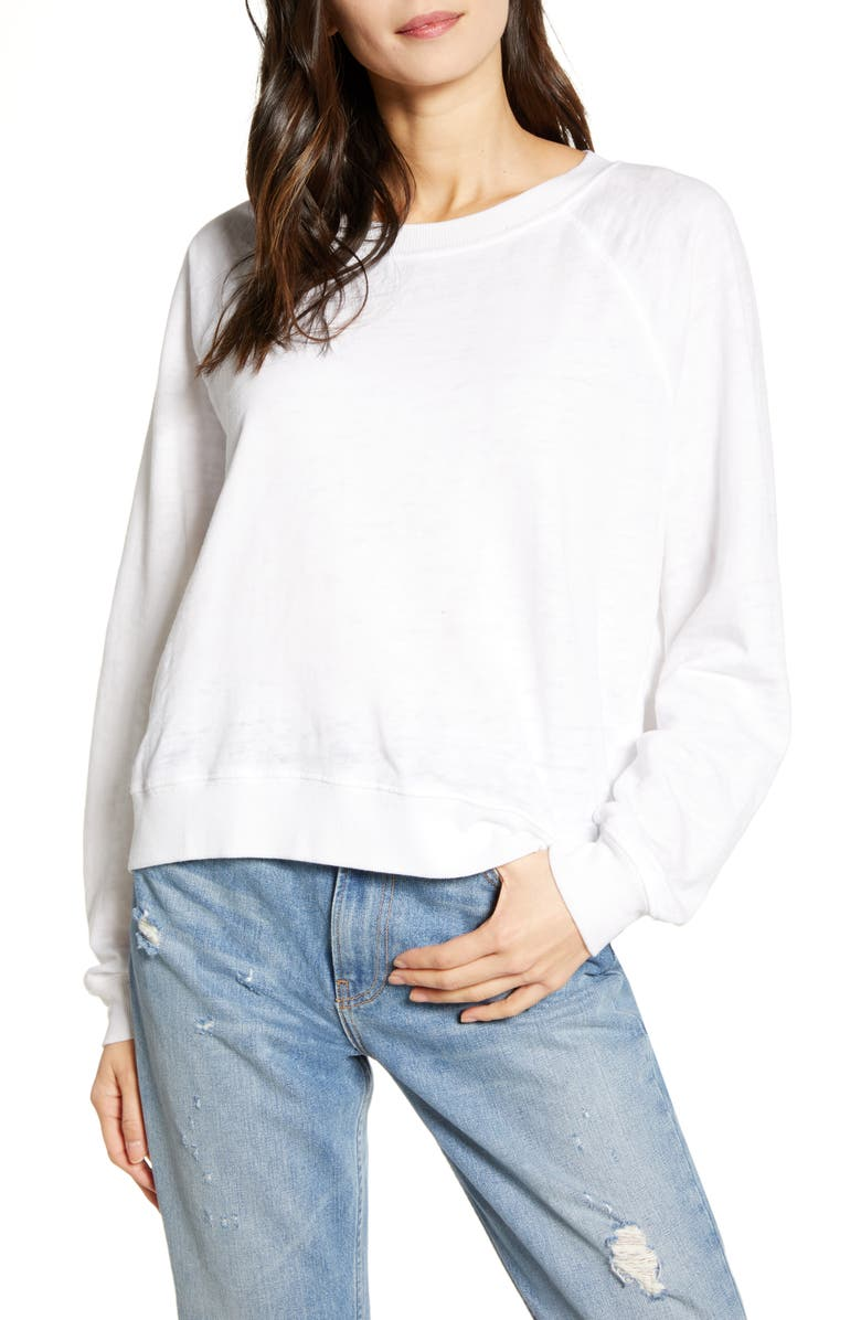 RECYCLED KARMA Long Sleeve Burnout Tee, Main, color, 020