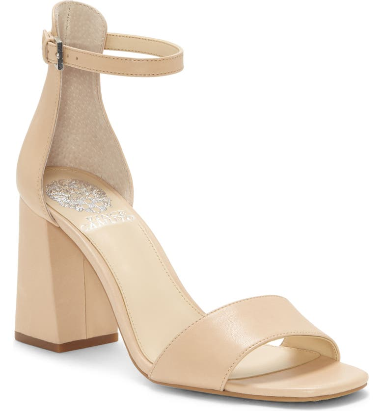 VINCE CAMUTO Winderly Ankle Strap Sandal, Main, color, BUFF LEATHER