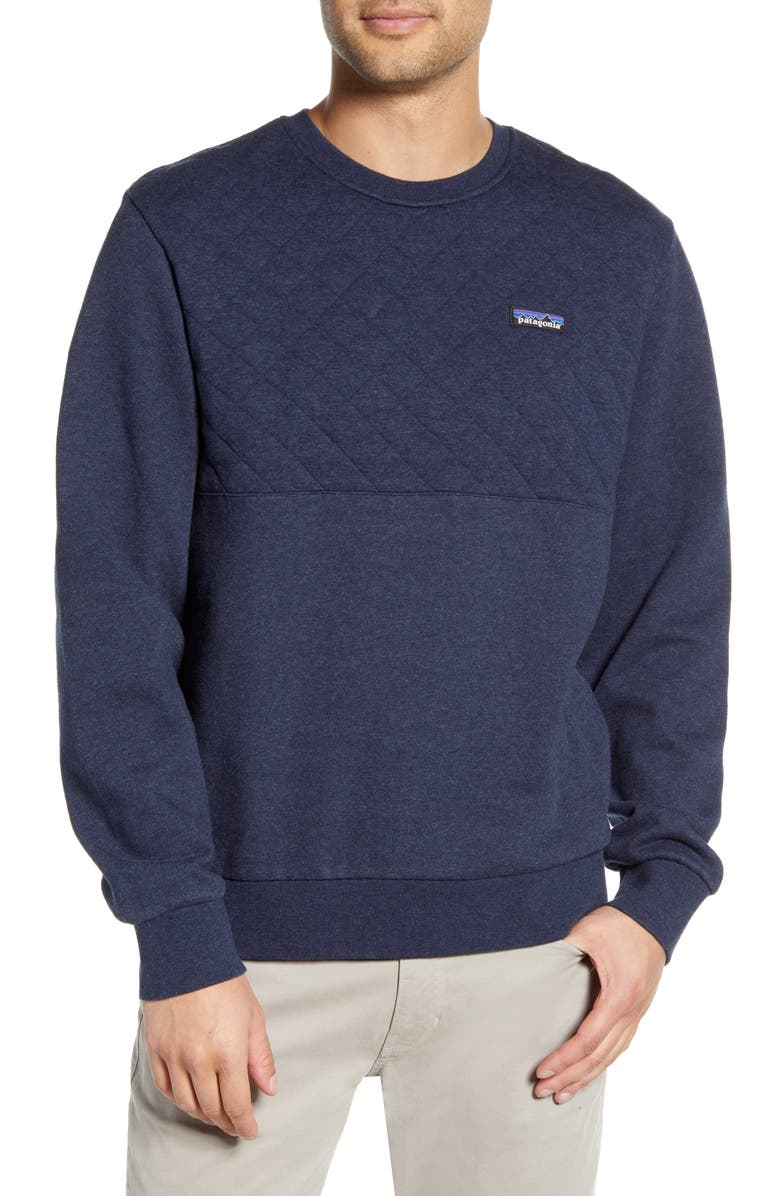PATAGONIA Quilted Sweatshirt, Main, color, NEW NAVY