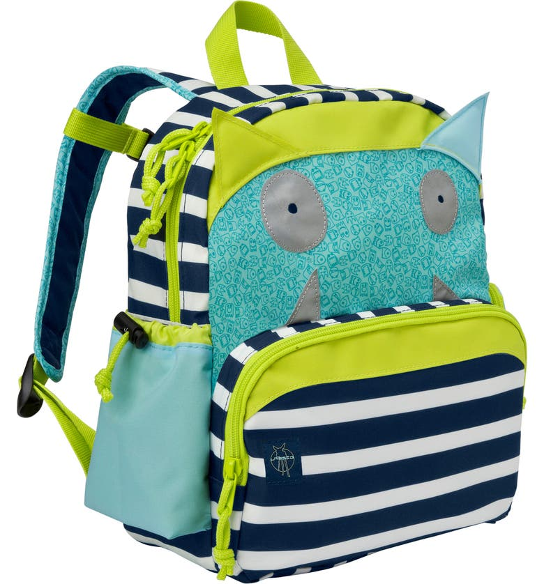 LÄSSIG Little Monster Glow in the Dark Mini Backpack, Main, color, BOUNCING BOB
