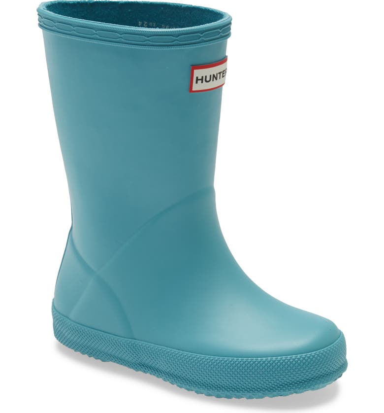 HUNTER First Classic Waterproof Rain Boot, Main, color, BLUE SPRUCE