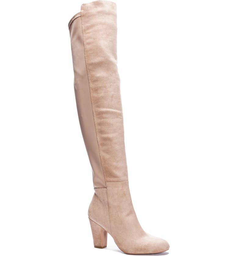 CHINESE LAUNDRY Canyons Over the Knee Boot, Main, color, TAUPE SUEDE