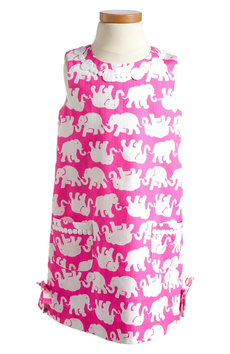 LILLY PULITZER<SUP>®</SUP> 'Little Lilly' Shift Dress, Main, color, POP PINK