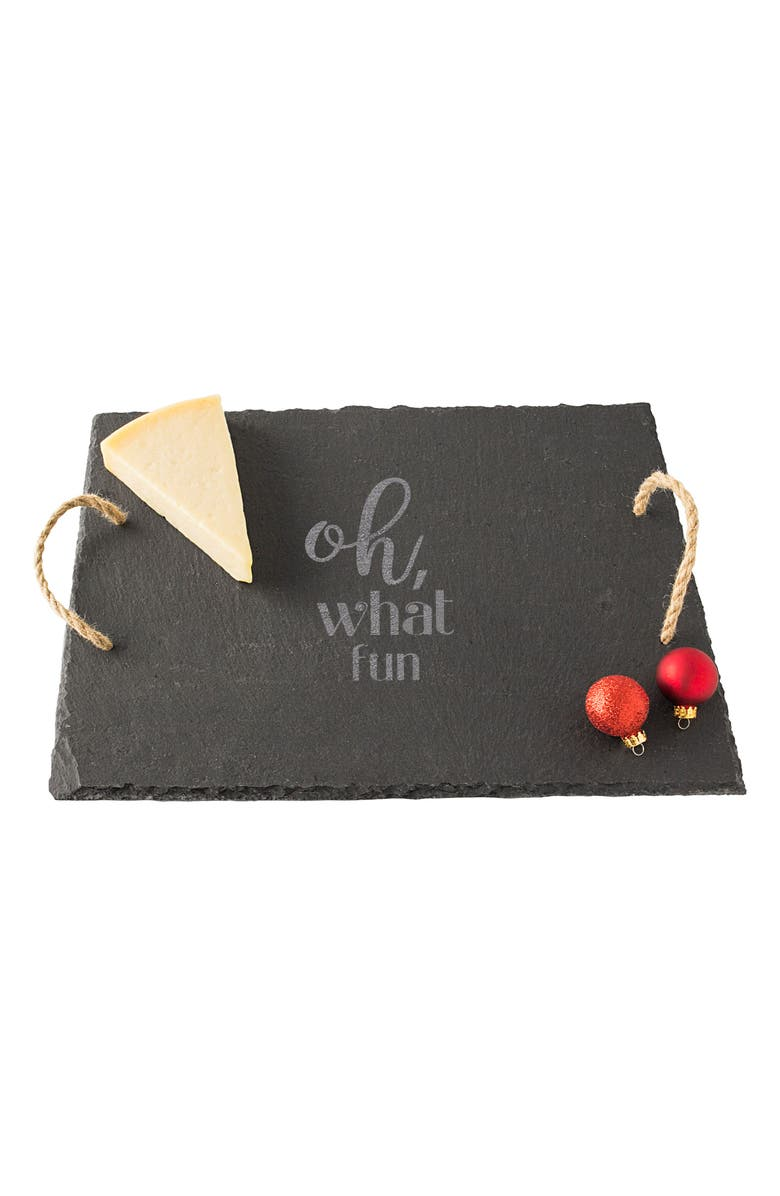 CATHY'S CONCEPTS Oh What Fun Slate Serving Board, Main, color, 001