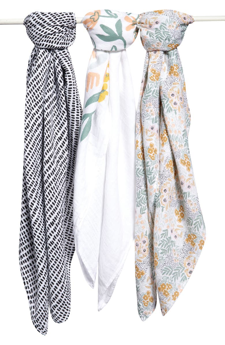 NORDSTROM Baby 3-Pack Muslin Swaddles, Main, color, 110