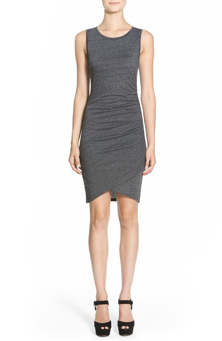 LEITH Ruched Body-Con Tank Dress, Main, color, 032
