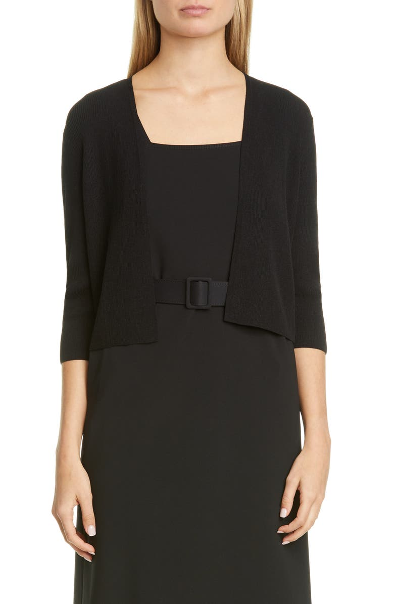 LAFAYETTE 148 NEW YORK Open Front Crop Cardigan, Main, color, 001