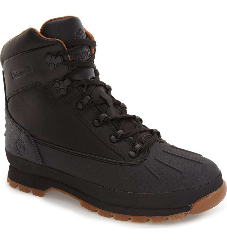 TIMBERLAND Euro Waterproof Hiking Boot, Main, color, 001