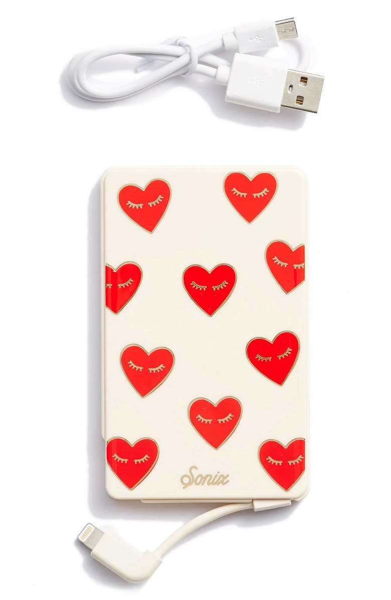 SONIX Fancy Heart Portable iPhone Charger, Main, color, 600