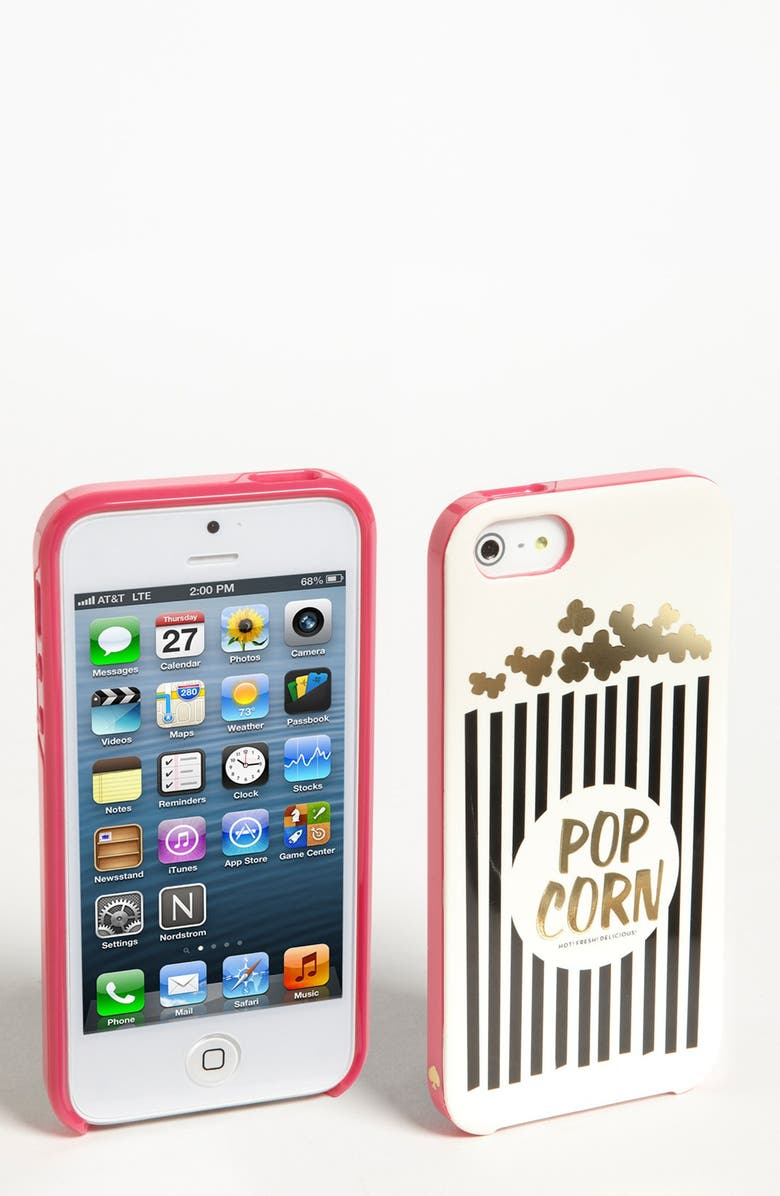 KATE SPADE NEW YORK 'popcorn' iPhone 5 & 5S case, Main, color, 650