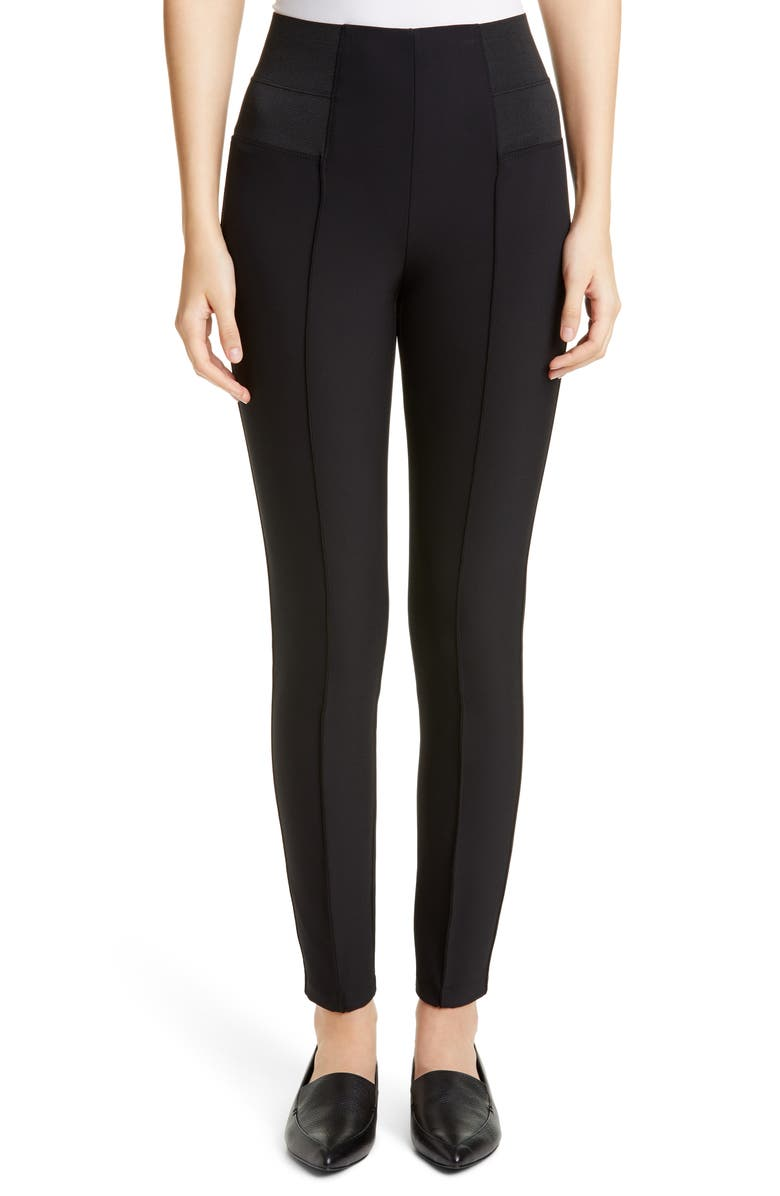 LAFAYETTE 148 NEW YORK Nolita Leggings, Main, color, BLACK
