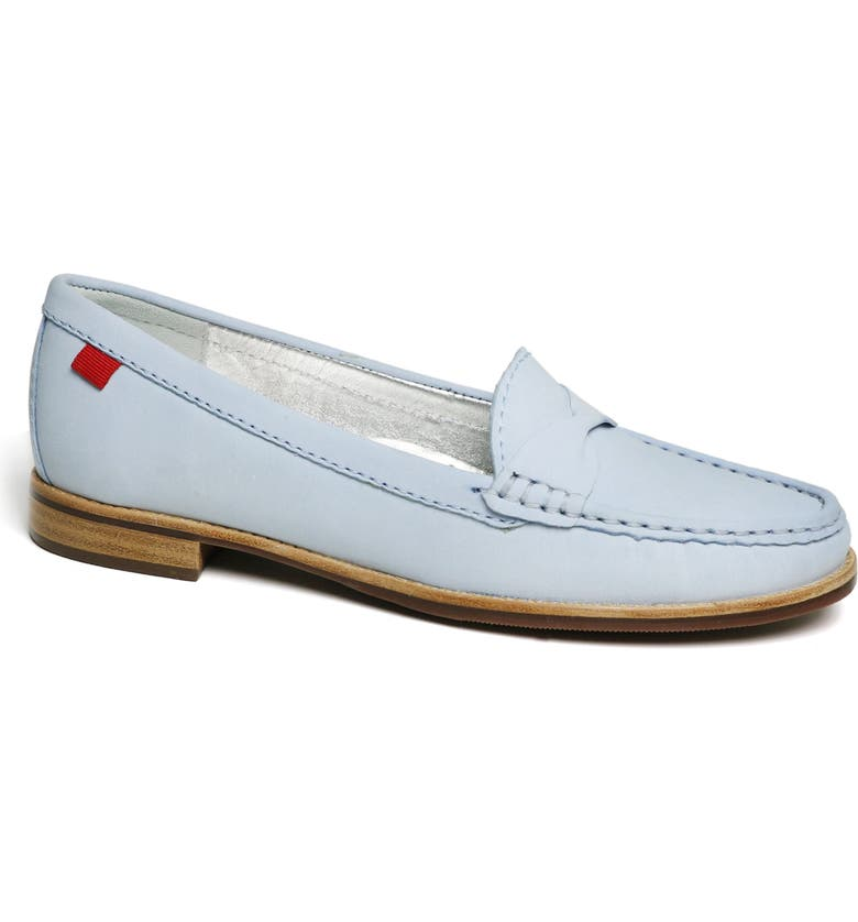 MARC JOSEPH NEW YORK Plymouth Street Twisted Loafer, Main, color, BABY BLUE NUBUCK