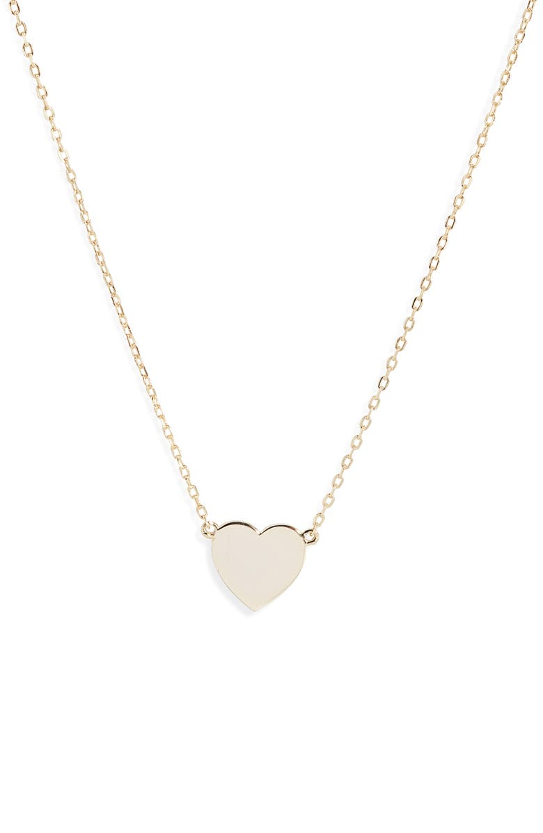 MELINDA MARIA You Have My Baby Heart Necklace, Main, color, 710