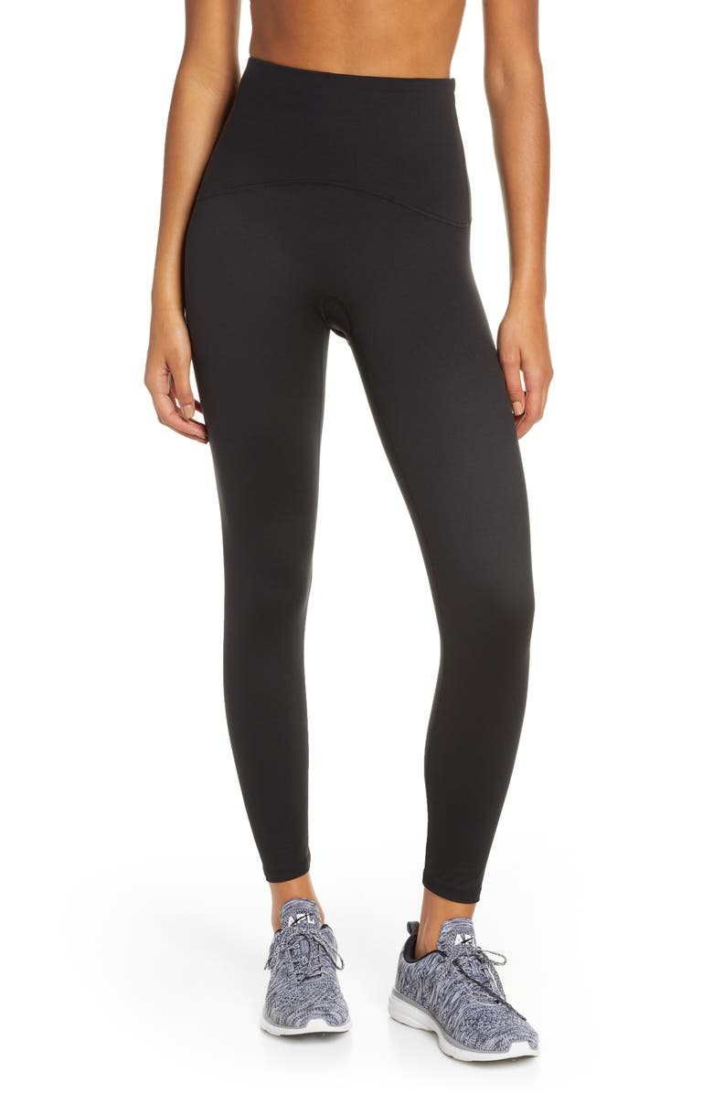 SPANX<SUP>®</SUP> Booty Boost Active 7/8 Leggings, Main, color, BLACK