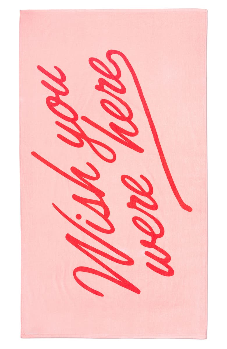 BAN.DO Wish You Were Here Towel, Main, color, Pink