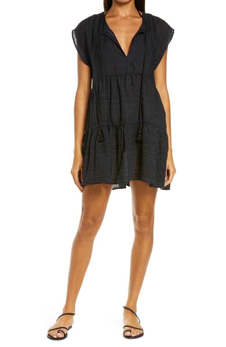 ROBIN PICCONE Michelle Tiered Cover-Up, Main, color, 001