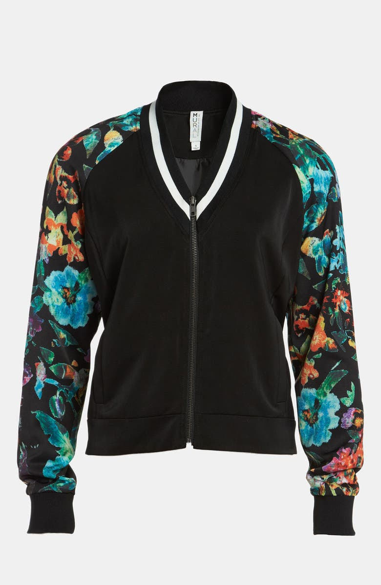 MURAL 'Low Blocked' Bomber Jacket, Main, color, 001
