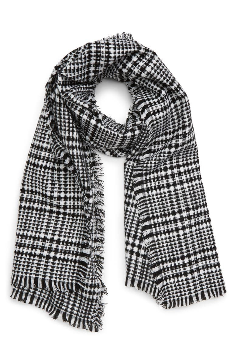 BP. Waffle Plaid Scarf, Main, color, 001